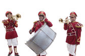 Bandmasters playing on a trumpets — Stock Photo