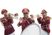 Bandmasters playing on a trumpet — Stockfoto