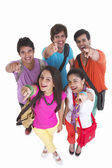 Happy group of Indian friends — Stock Photo