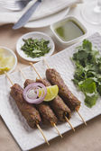 Seekh kabab served in plate — Stock Photo