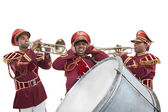 Bandmasters playing on a trumpet — Photo