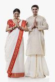 Bengali couple greeting — Stock Photo