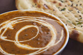 Dal makhni with naan — Stock Photo