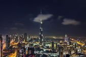 Clouds passing through Burj Khalifa, Dubai — Stockfoto