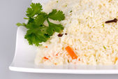 Ghee rice on white plate — Stock Photo