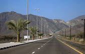 A mountainous road in Kalba - Fujairah, UAE. — Foto de Stock