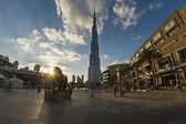Burj Khalifa and Dubai Downtown — Stock Photo