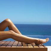 Belle gambe femminile — Foto Stock