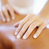 Back massage — Stock Photo