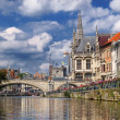 Stock Photo: Canal in Ghent
