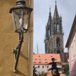 Streetlamp in Meissen — Stock Photo