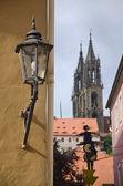 Streetlamp in Meissen — Stock Photo