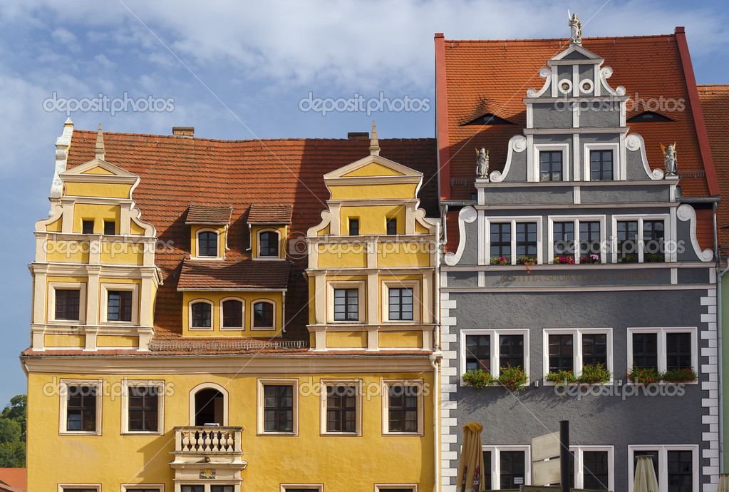 Colorful Houses in the Markt of Meissen — Stock Photo #15677045