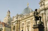 Gottfried semper heykeli — Stok fotoğraf