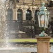 Lamp and Fountain in the Zwinger — Stock Photo