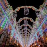 Постер, плакат: Illumination of Street in Valencia during the Fallas