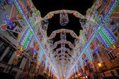 Illumination of Street in Valencia during the Fallas — Stock Photo