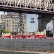 Ship under Queensboro Bridge — Stock Photo