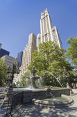 Fountain of the City Hall Park — Stock Photo