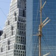 Mast and Skyscrapers — Stock Photo