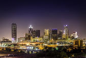 Downtown Dallas Illuminated — Stock Photo