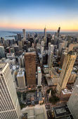 Chicago Twilight from the Heights — Stock Photo