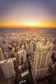 Sunset in Chicago, Illinois — Stock Photo