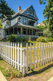 Fenced House in Oak Park — Stock Photo