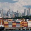 Cargo containers in Panama — Stock Photo
