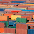 Stacked Shipping Containers — Stock Photo