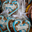Bavarian Lebkuchen Hearts — Stock Photo