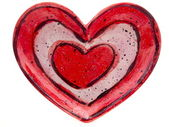 Valentine's Heart on White Background — Foto Stock