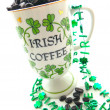 Irish Coffee Mug Angled — Stock Photo