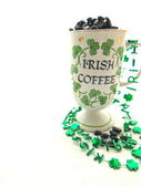 Irish Coffee Mug on Right — Stock Photo
