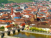 View of Wüurzburg in Summer — Stock Photo