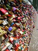 Line of Love Locks — Stock Photo