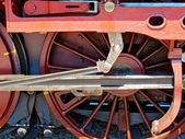 Steam Locomotive Red Wheel — Stock Photo