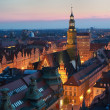 Stock Photo: Town square in Wroclaw (Poland)