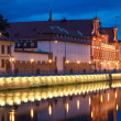 Wroclaw architecture night — Stock Photo