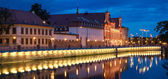 Wroclaw architecture night — Stock Photo