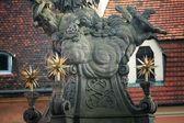 Wroclaw bir bebek melek heykeli — Stok fotoğraf