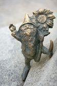 Dwarf statue, Wroclaw, Poland — Stock Photo