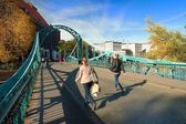 Tumski bridge in wroclaw,Poland — Stock Photo