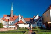 Het platform wroclaw kathedraal eiland — Stockfoto