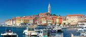 Rovinj, Croatia.Panorama city from the harbor — Stock Photo