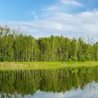 Panoramic view on Polish lake — Stock Photo #28405677
