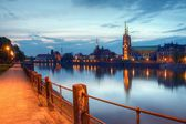 Cathedral Island in the evening Wroclaw, Poland — Stock Photo