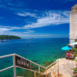 Croatia, Rovinj. Going down to the terrace — Foto de Stock
