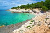 Croatia, Istria. Beautiful Blue Bay — Stock Photo