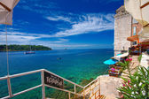 Croatia, Rovinj. Going down to the terrace — Stock Photo